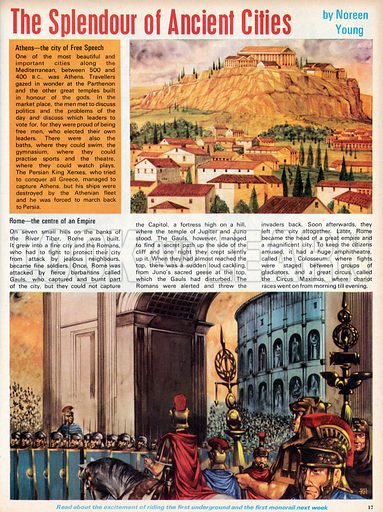 The Splendour of Ancient Cities. Athens and Rome.