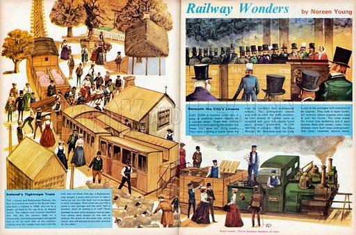 Railway Wonders. The Listowel and Ballybunion Railway in Ireland (main pic) and the first London underground.