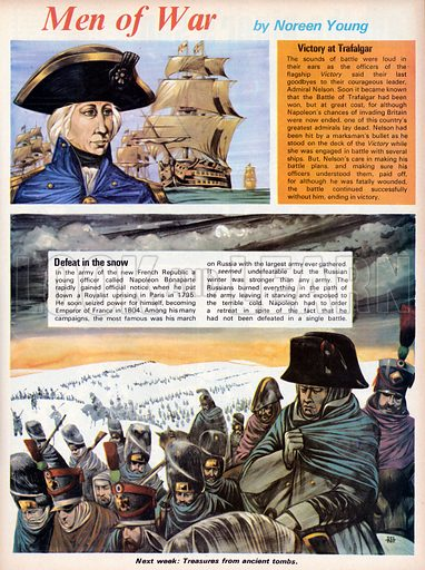 Men of War. Victory at Trafalgar with Nelson and Defeat in the Snow for Napoleon Bonaparte.