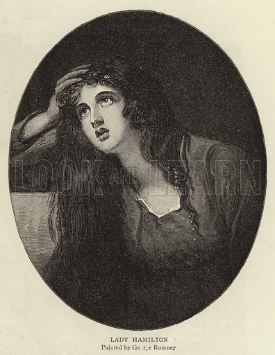 Lady Hamilton. Illustration for The Graphic, 19 December 1891.