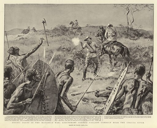 Matabele war, picture, image, illustration
