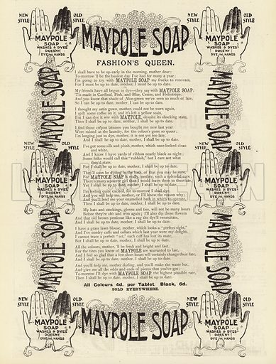 Advertisement, Maypole Soap. Illustration for The Graphic, 1 May 1897.