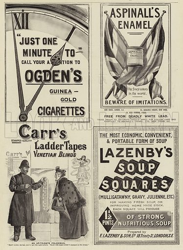 Page of Advertisements. Illustration for The Graphic, 22 May 1897.