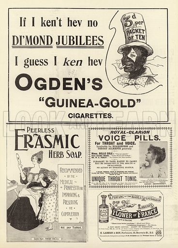 Page of Advertisements. Illustration for The Graphic, 26 June 1897.