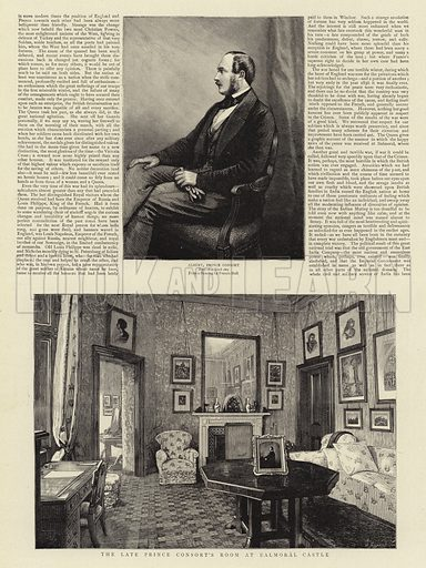 The Late Prince Consort's Room at Balmoral Castle. Illustration for The Graphic, 1897.