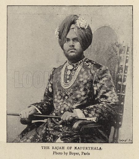 The Rajah of Kapurthala. Illustration for The Graphic, 28 June 1897.