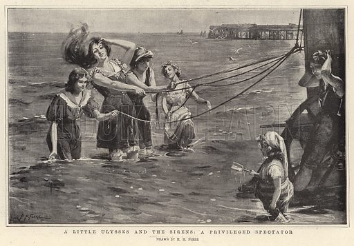 A Little Ulysses and the Sirens, a Privileged Spectator. Illustration for The Graphic, 17 August 1901.