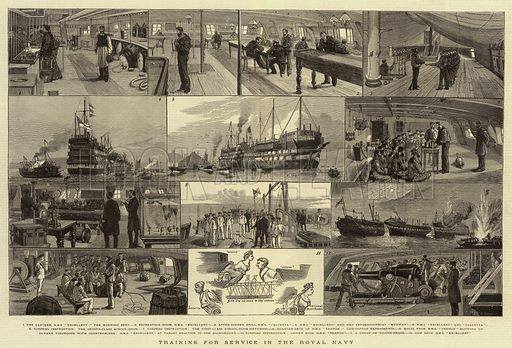 Training for Service in the Royal Navy. Illustration for The Graphic, 18 June 1881.