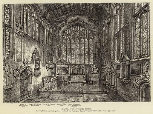 Chancel of Holy Trinity Church. Illustration for The Graphic, 28 April 1888.