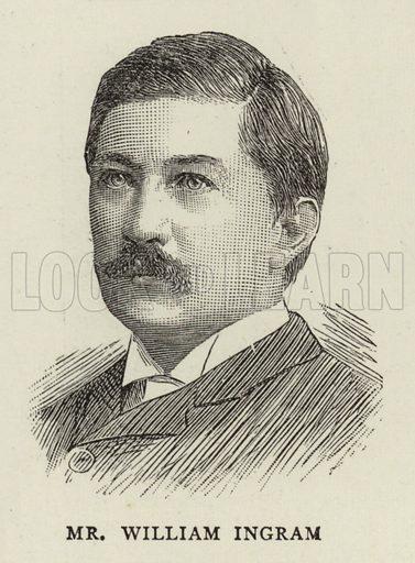 Mr William Ingram. Illustration for The Graphic, 6 December 1890.