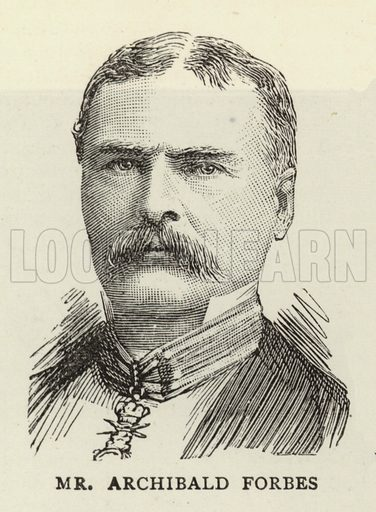 Mr Archibald Forbes. Illustration for The Graphic, 6 December 1890.