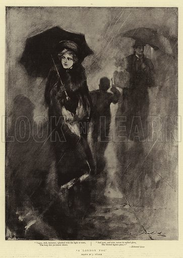 A London Fog. Illustration for The Graphic, 12 January 1895.