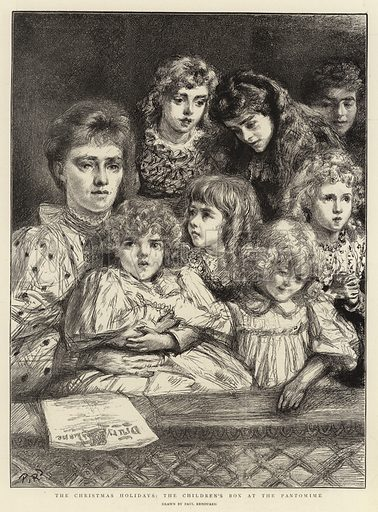 The Christmas Holidays, the Children's Box at Pantomime