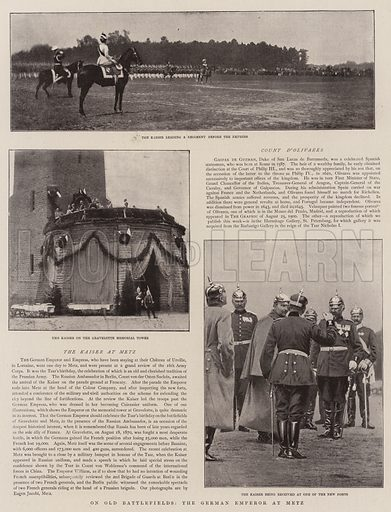 On Old Battlefields, the German Emperor at Metz. Illustration for The Graphic, 8 June 1901.