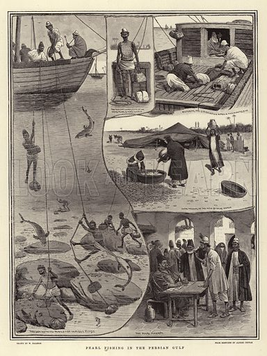 Pearl Fishing in the Persian Gulf. Illustration for The Graphic, 9 August 1902.