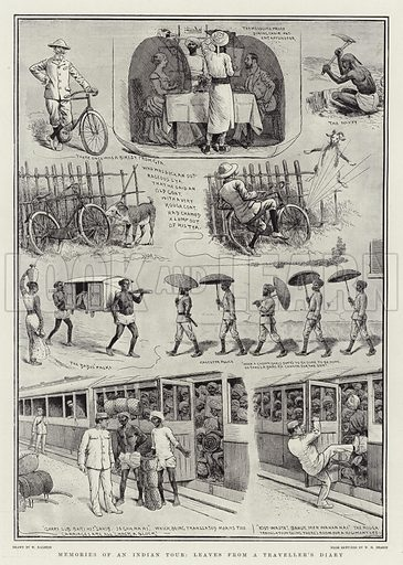 Memories of an Indian Tour, leaves from a Traveller's Diary. Illustration for The Graphic, 20 September 1902.
