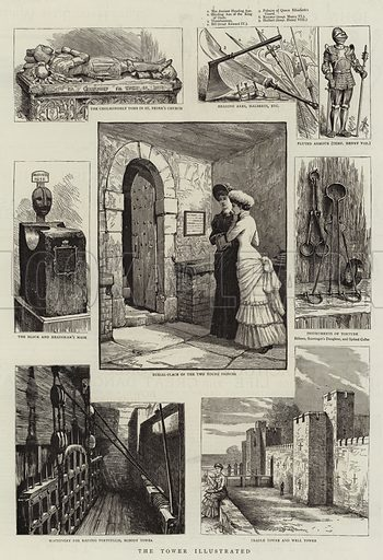 The Tower of London. Illustration for The Graphic, 15 August 1885.