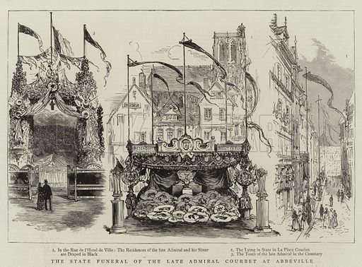 The State Funeral of the Late Admiral Courbet at Abbeville. Illustration for The Graphic, 12 September 1885.