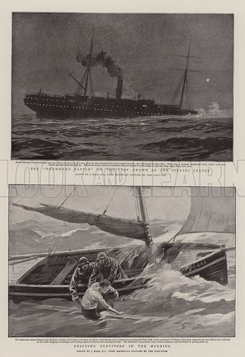 """The Wreck of the """"Drummond Castle"""". Illustration for The Graphic, 27 June 1896."""