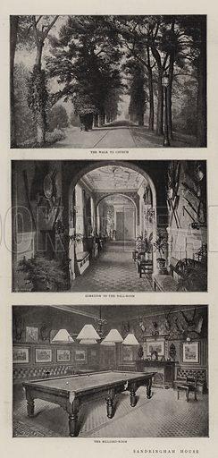 Sandringham House. Illustration for The Graphic, 29 July 1896.
