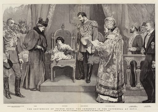 The Conversion of Prince Boris, the Ceremony in the Cathedral at Sofia. Illustration for The Graphic, 22 February 1896.