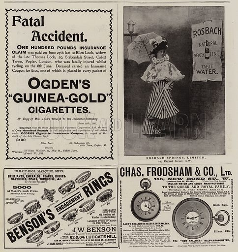 Advertisements. Illustration for The Graphic, 17 July 1897.