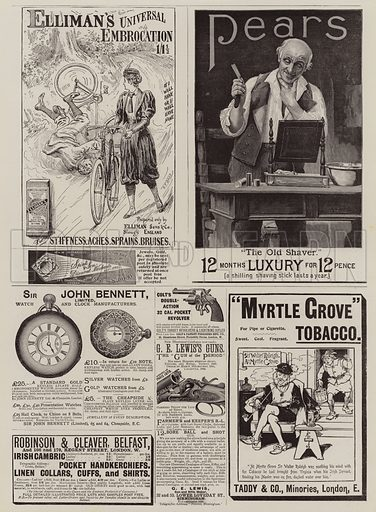 Page of Advertisements. Illustration for The Graphic, 11 September 1897.