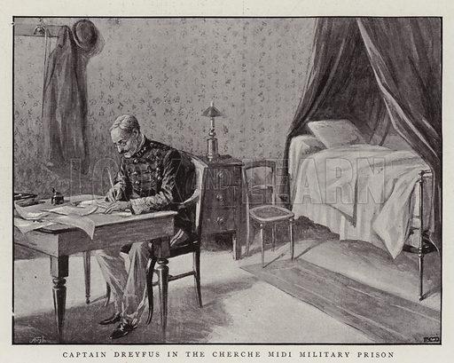 Captain Dreyfus in the Cherche Midi Military Prison. Illustration for The Graphic, 12 August 1899.