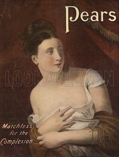 Advertisement for Pears, Matchless for Complexion
