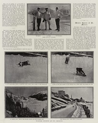 Winter Sports at St Moritz. Illustration for The Graphic, 1 February 1902.