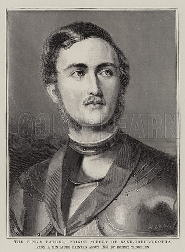 The King's Father, Prince Albert of Saxe-Coburg-Gotha. Illustration for The Graphic, 16 June 1902.