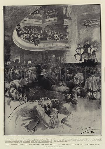 Seen through Parisian Spectacles, the English as they are portrayed on the Music-Hall Stage