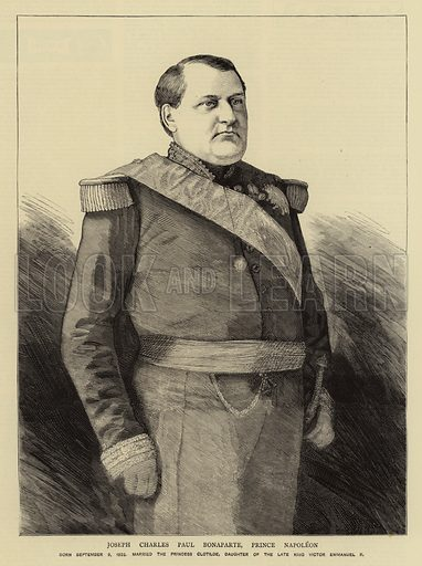 Joseph Charles Paul Bonaparte, Prince Napoleon. Illustration for The Graphic, 1883.