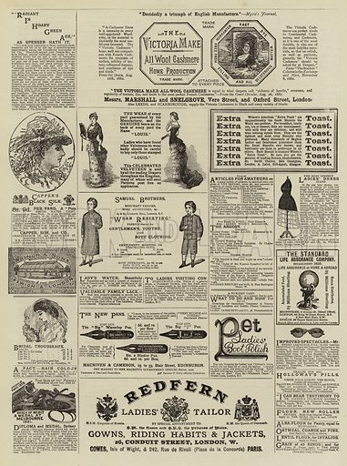 Page of Advertisements. Illustration for The Graphic, 24 March 1883.