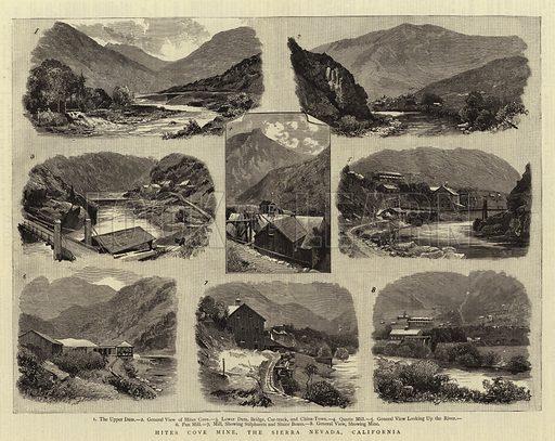 Hites Cove Mine, the Sierra Nevada, California. Illustration for The Graphic, 14 April 1883.