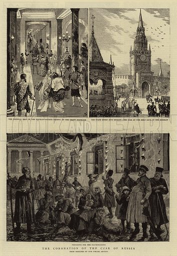 The Coronation of the Czar of Russia. Illustration for The Graphic, 9 June 1883.