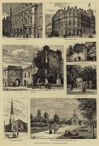 Southampton Illustrated. Illustration for The Graphic, 14 July 1883.