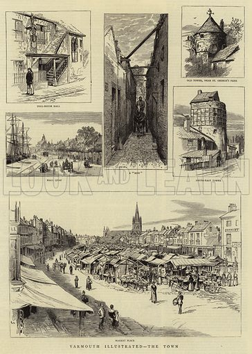 Yarmouth Illustrated, the Town. Illustration for The Graphic, 25 August 1883.