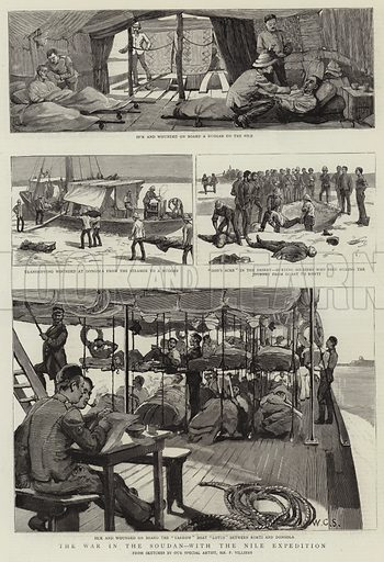 The War in the Soudan, with the Nile Expedition. Illustration for The Graphic, 18 April 1885.