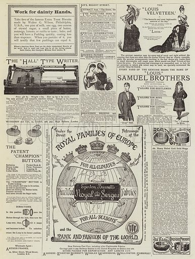 Page of Advertisements. Illustration for The Graphic, 18 April 1885.