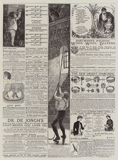 Page of Advertisements. Illustration for The Graphic, 18 October 1884.