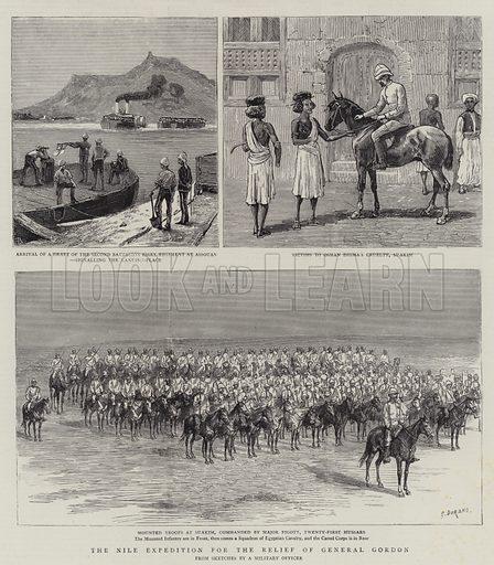 The Nile Expedition for the Relief of General Gordon. Illustration for The Graphic, 25 October 1884.
