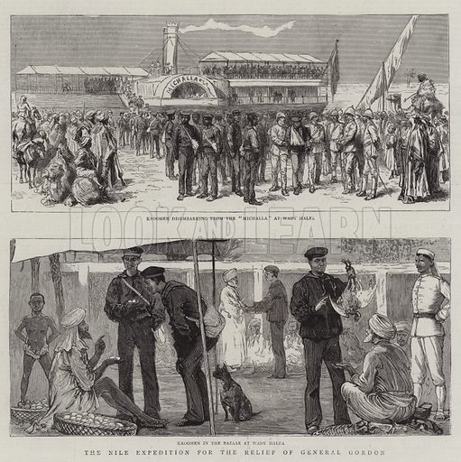 The Nile Expedition for the Relief of General Gordon. Illustration for The Graphic, 6 December 1884.