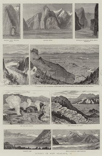 Scenes in New Zealand, II Illustration for The Graphic, 6 December 1884.