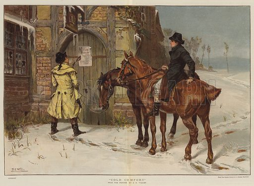 Cold Comfort. Illustration for The Graphic, Christmas Number 1884.