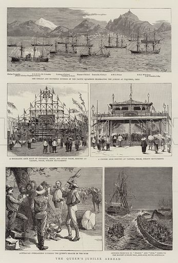The Queen's Jubilee Abroad. Illustration for The Graphic, 27 August 1887.