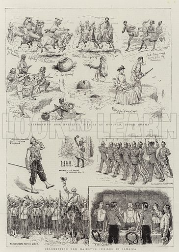 Celebrating Her Majesty's Jubilee. Illustration for The Graphic, 8 October 1887.