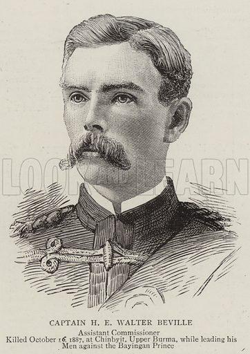 Captain H E Walter Beville, Assistant Commissioner. Illustration for The Graphic, 12 November 1887.