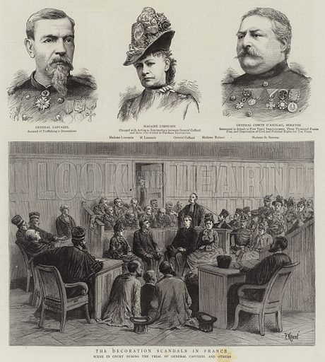 The Decoration Scandals in France. Illustration for The Graphic, 19 November 1887.