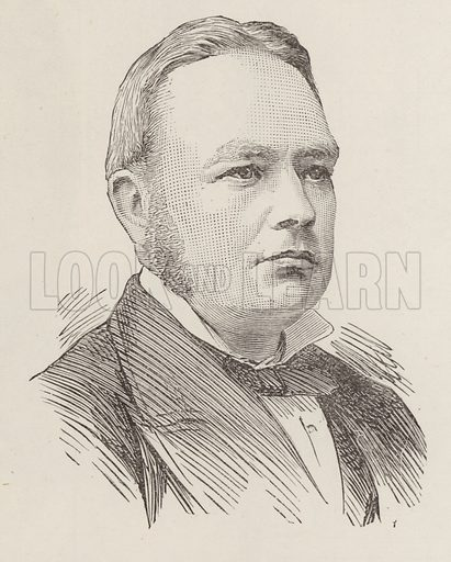 Mr J F Bottomley Firth, MP. Illustration for The Graphic, 14 September 1889.